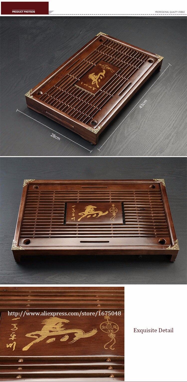 Tea Tray High Quality 43cm*28cm*6cm Chinese Solid Tea Tray, Household Tea Board,Chahai /Tea table