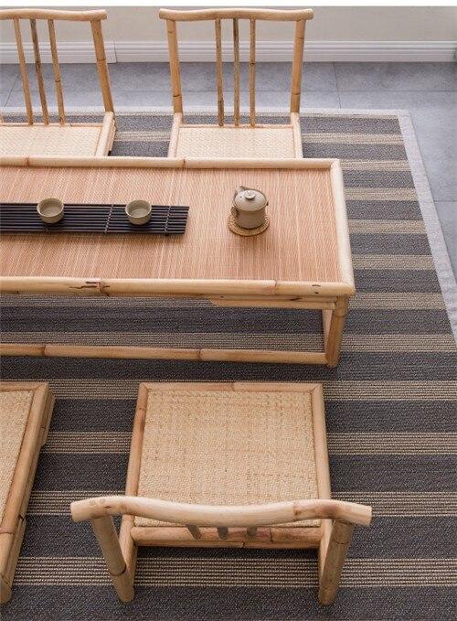 Vintage Rattan Indoor Bamboo Furniture Floor Table 100*40cm Asian Style Tatami Coffee/Tea Living Room Low Tea Table Bamboo Table