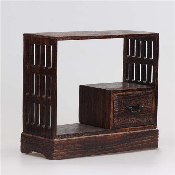 Antique Decorative Wood Wall Shelf - Tea Pot and Cups Sold Separately