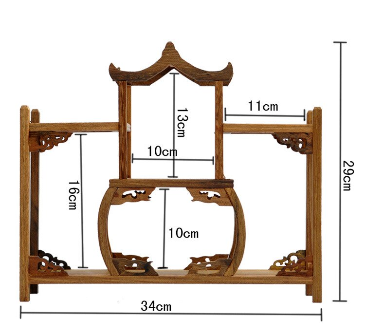 Ming and Qing furniture mahogany wenge large aircraft curio shelf Shelf antique jewelry swing frame factory direct