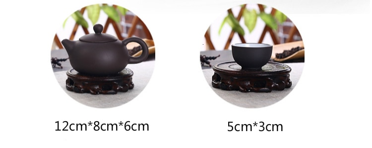 Soffe Purple Sand Ceramic Chiness Kung Fu Teapot Set With 4 Mini Cup And 1 Pot Suitable For Home Office Tea Set Drinkware