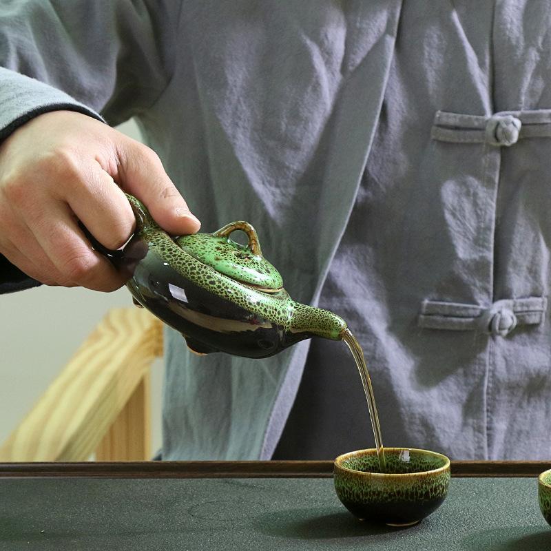 Chinese Kung Fu Tea Set Ceramic Glaze Teapot Porcelain Teaset Portable Tea Cups Of Tea Ceremony Teaware Sets Gift For Friend