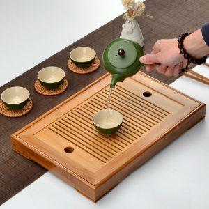Kung Fu Tea Set Natural Bamboo Tea Tray – Multiple Dimensions!