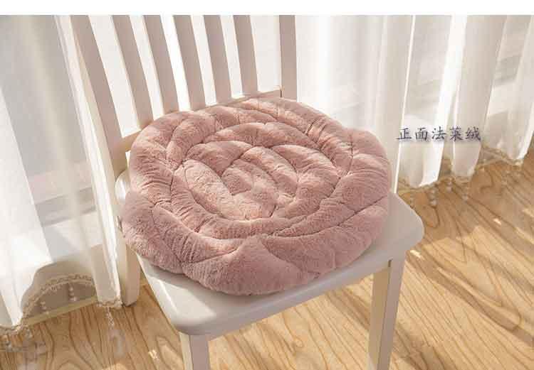 Japanese Style 55x55cm Round Shorthaired Rose Cushion Home Floor Chair Decor Cushion Pad Car Mat Chair