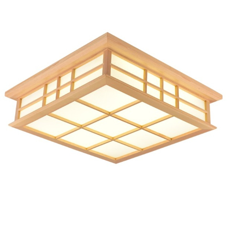 Ceiling Lights Japanese style ceiling lamp led solid wood lighting fixture tatami living room bedroom ceiling lamps