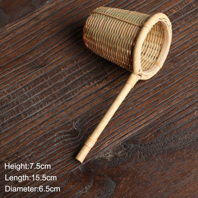 Japan Teaism Decorative Tea Strainers Bamboo Rattan Gourd Shaped Tea Leaves Funnel for Tea Table Decor Tea Ceremony Accessories