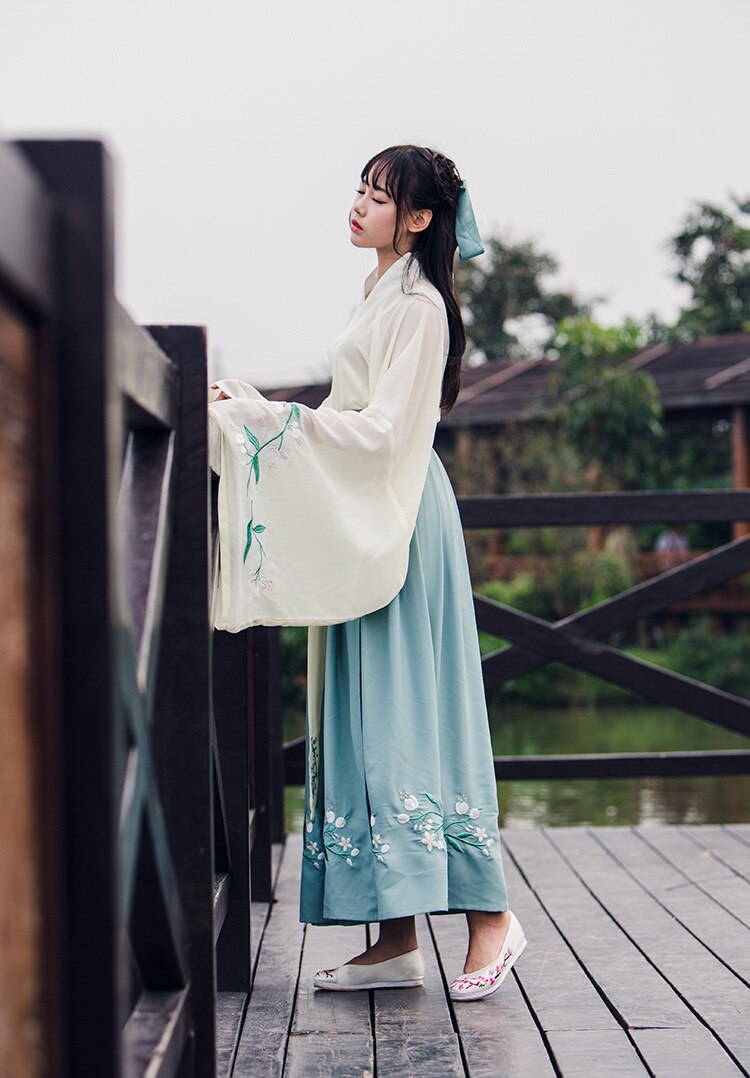 Chinese Traditional Fairy Costume Ancient Han Dynasty Princess Clothing National Hanfu Outfit Stage Dress Folk Dance Costume 90