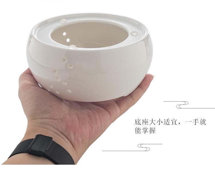 Ceramic Candle Heater Tea Pot Heating Base Tea Maker Filter Teapot Kettle Boiled Flower Tea Heated Warmer Wine Coffee Insulation