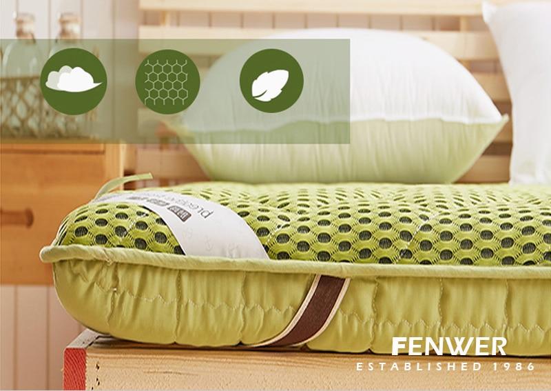 FENWER Foam massage mattress double single dormitory mattress bamboo fiber linen air mattress