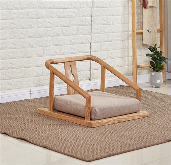 Tatami Legless Floor Zaisu Chairs Armchair Asian Furniture in Traditional Japanese Sitting Style Seat for Tatami Living Room
