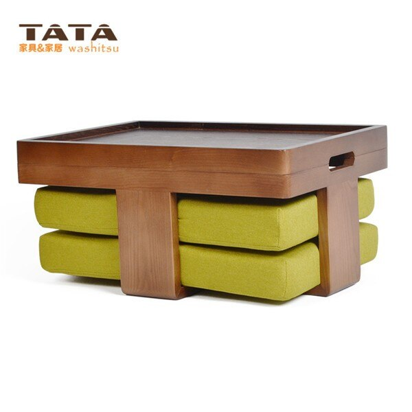 Modern Asian Style Tea Table Furniture Design Low Coffee Gongfu Tea Tray Table in Walnut Finish Japanese/Chinese Wooden Table