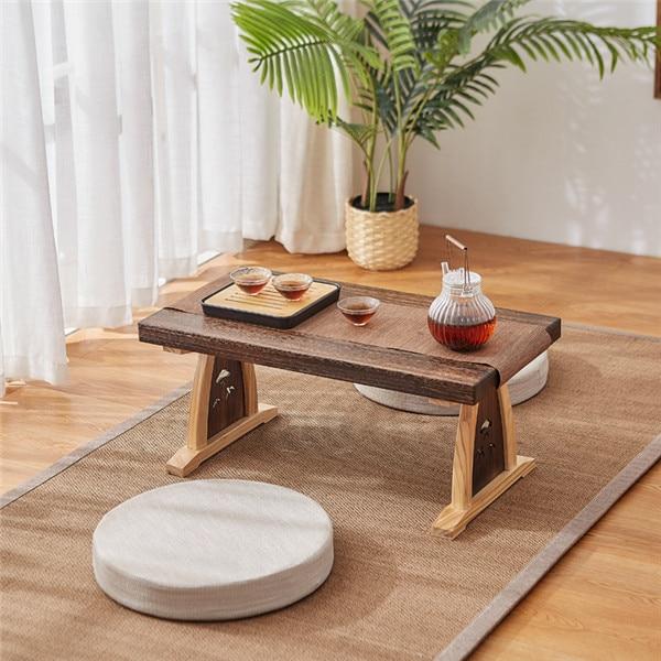 Japanese Coffee Tatami Tea Table Modern Mini Zen Simple Household Desk Suitable for Living Room, Rest Room and Office Tea Table