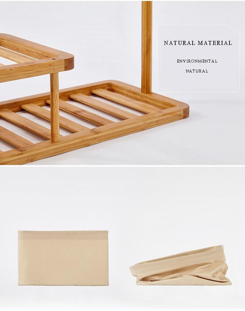 Clothes Rack Stand Assemble Multi-Purpose Heavy Duty Garmen Rack With Portable Laundry Shoe Shelf Basket Home Furniture