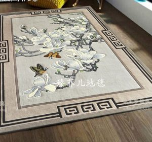 White Cherry Blossom Wool Carpet