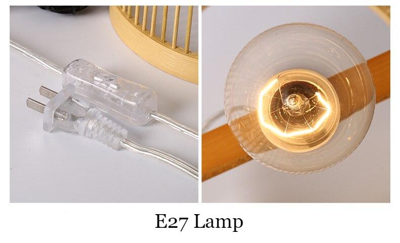New Chinese tea room bamboo table lamp study night light bedroom warm tatami Zen bed lamp WF4161003