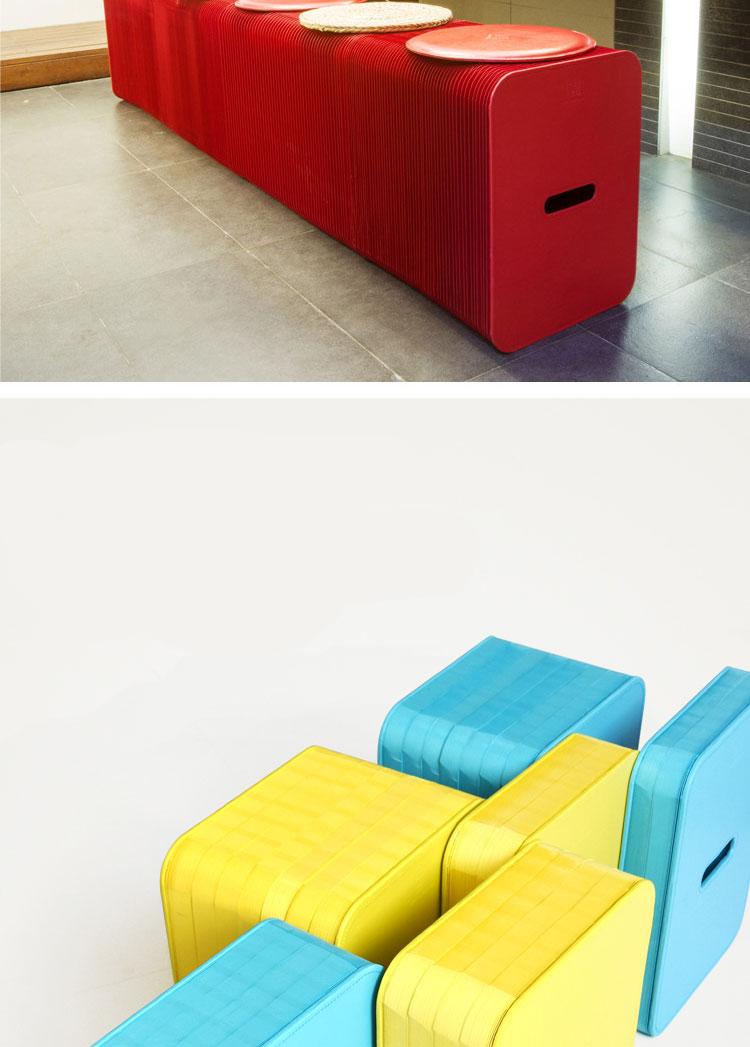 Louis Fashion Creative Designer Paper Chair Nordic Style Furniture Kraft Folding Telescopic Sofa