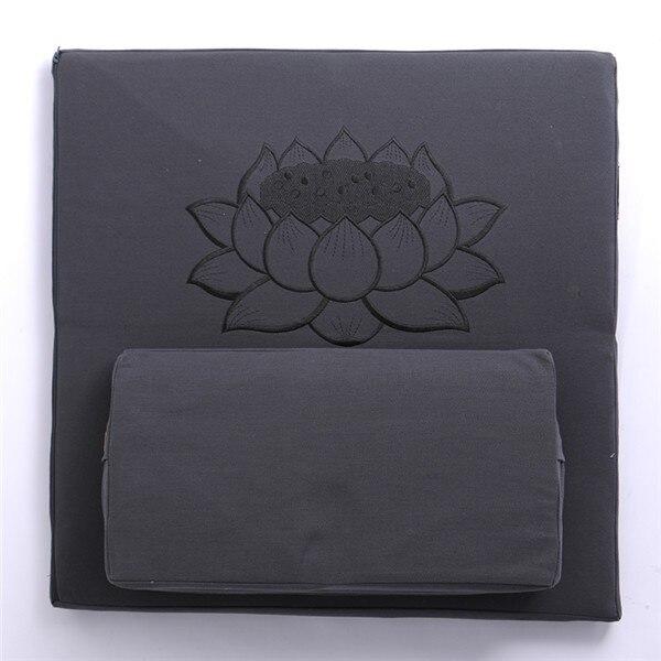 Comfort Zabuton 2 Piece Set - Yoga/Meditation Cushions Square 60/70/80cm Japanese Zafu Floor Cushion Lotus Meditation