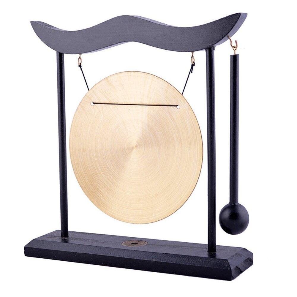 Feng Shui Brass Gong Desktop Zen Art FOR Fortune H1301