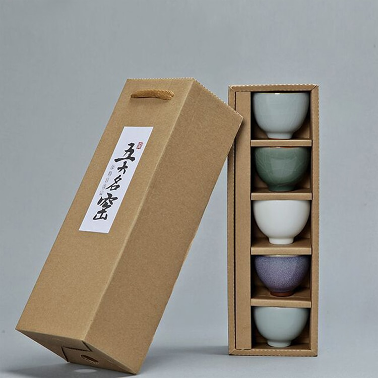 Wourmth 5 PCS/set Chinese Traditional Tea Cup Ceramic High-quality Porcelain Tea Set Accessories Teacups Gift Cups Drinkware