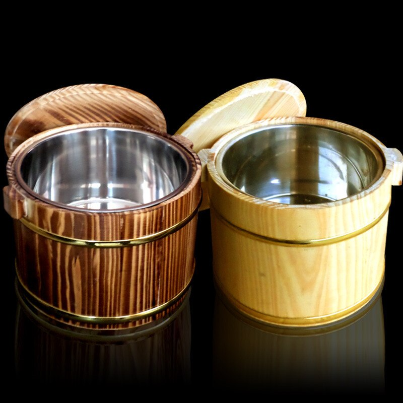 Wooden Kegs Wooden Eater Decorative Beer Bar Photography Props Wooden Barrels Hostels Decoration Rice Bucket thermos tableware
