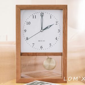 Vintage Style Japanese Solid Wood Living Room Wall Clock