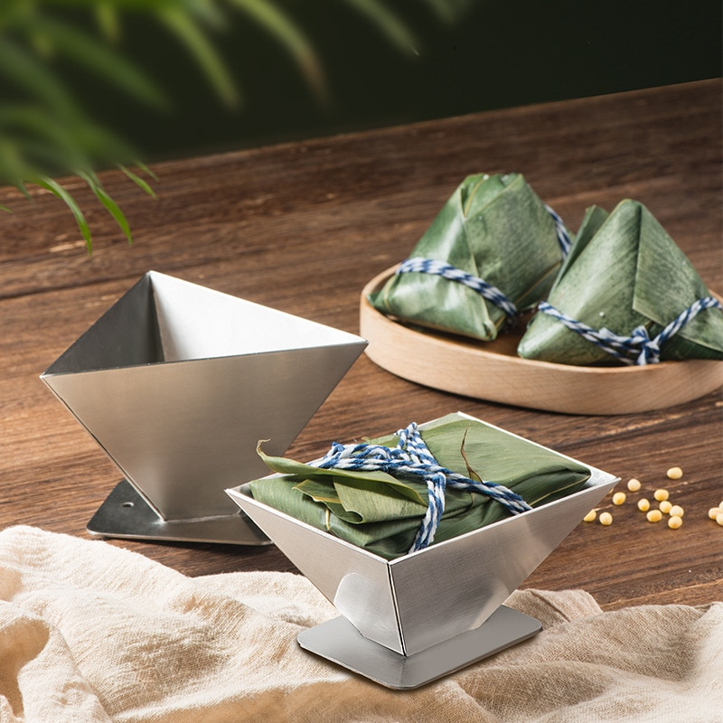 Zongzi Mousse Mold Metal Rice Dumpling Craft Mold Chocolate Candy Mould Cake Baking Mold For Dragon Boat Festival Supplies
