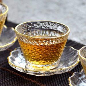 Gold Rim Japanese Tea Glass – Three Styles Available