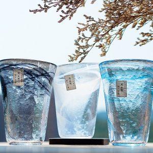 Japan Tsukiyeye Kobo Handmade Hammered Glass