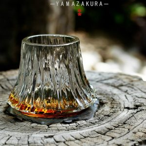 220ml Handmade Flaming Mount Fuji Tea Cup Wine Glass – 2 Styles Available